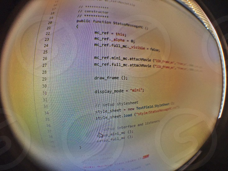 visual basic.net codes in fish eye lens photo