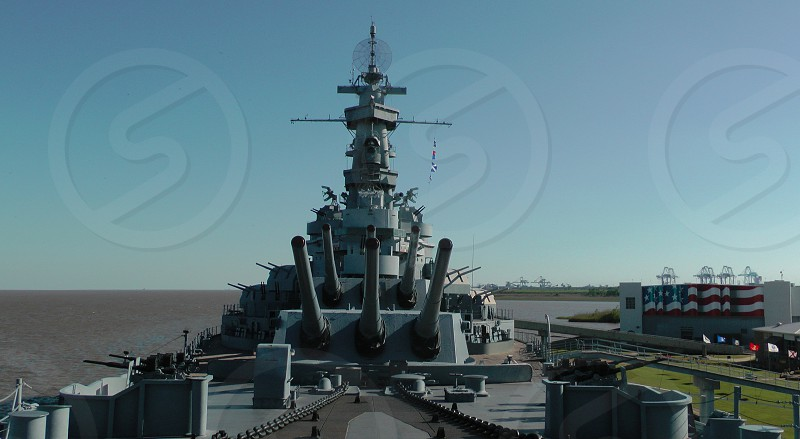 USS Alabama from the bow. photo
