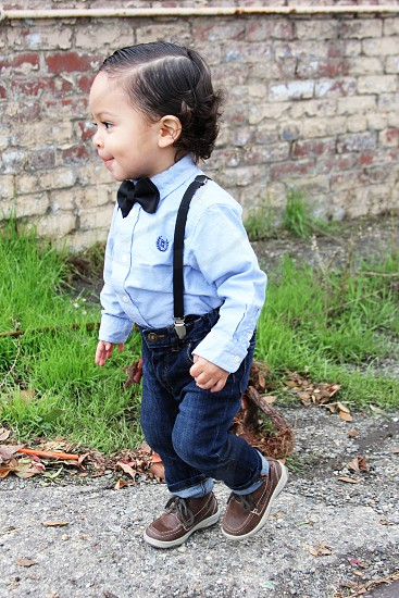 boy in blue denim jeans photo