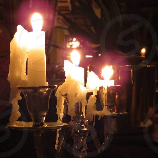 Candles a burning photo