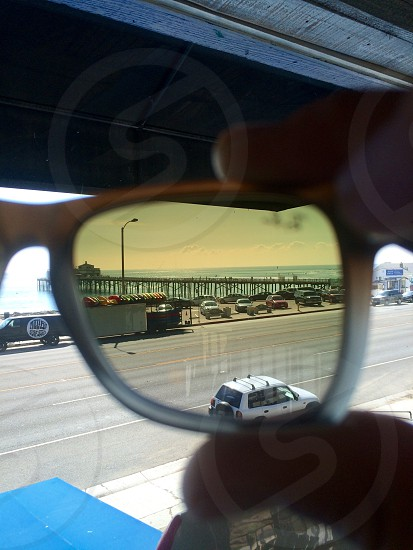 Here I have an unedited photo through the lenses on my Ray Ban sunglasses at work in Malibu Ca photo