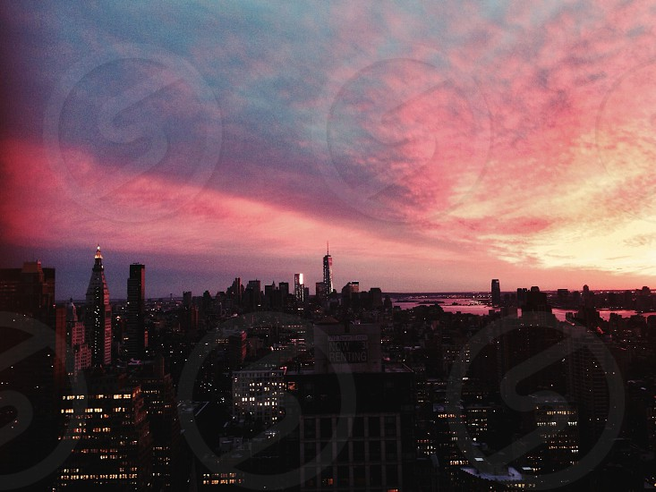 nyc sunset photo