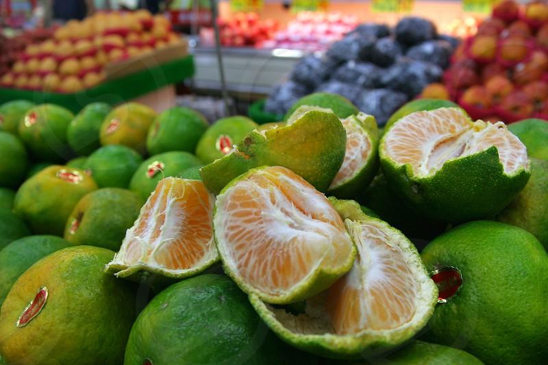 green round fruits  photo