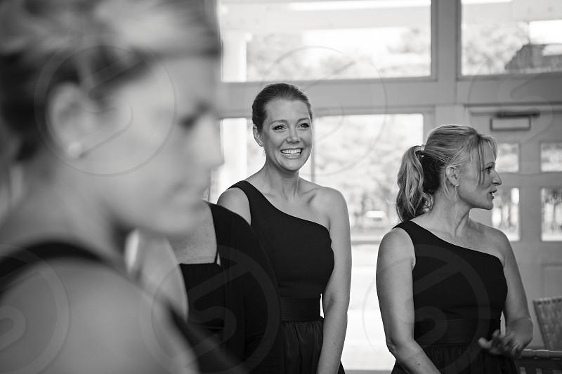 Happy smiling woman bridesmaid photo