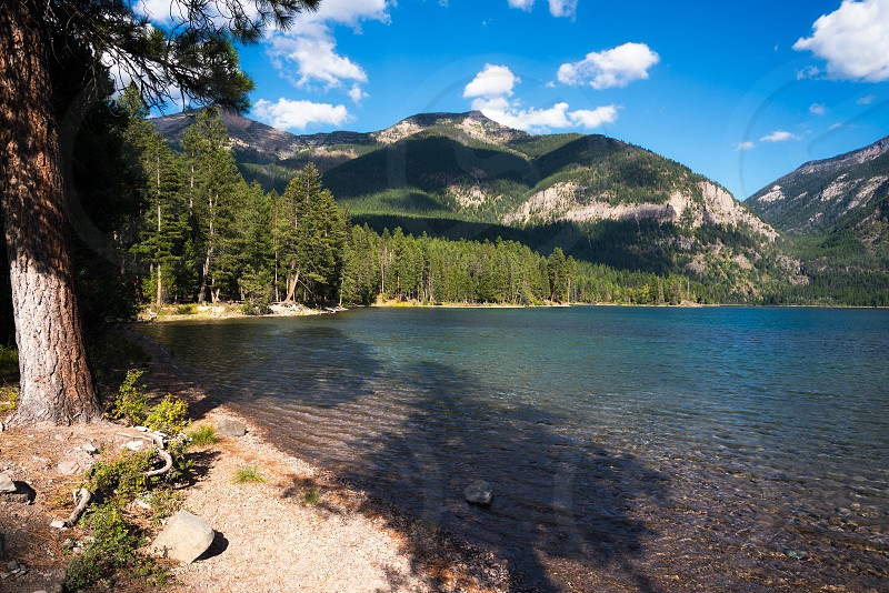 Scenic View of Lake Holland in Montana photo
