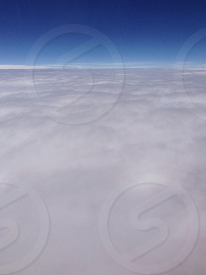Flying flight clouds Sky plane airplane cotton wool pillow cloudscape space softsoftness heaven wool horizon covered photo