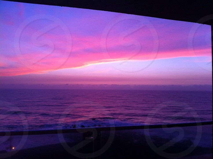 Indian Ocean sun rise on South Africa's Dolphin Coast. This photo has not been edited at all! photo