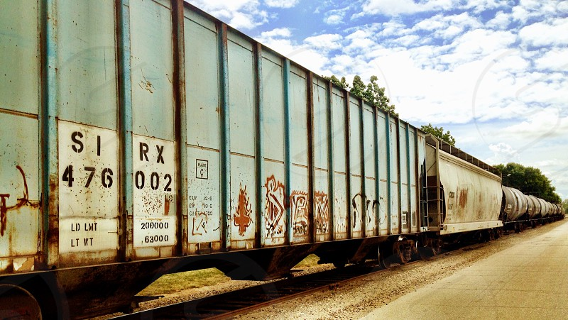 Graffiti train  photo
