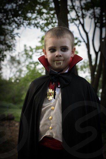Vampire dress up costume fangs bat Dracula boy pretend photo