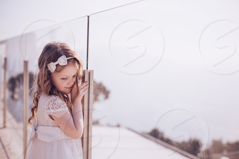 Sorrento Italy Wedding Relais Blu Flower girl photo