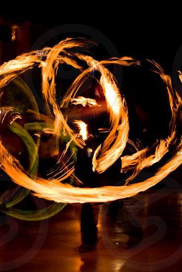Fire Dancer burn speed yellow green  photo