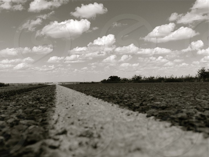 grayscale photo of road photo