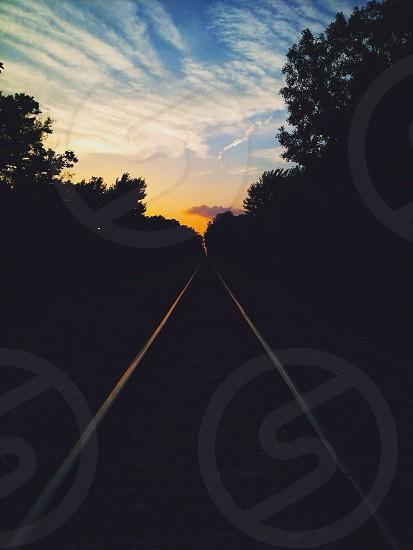 silver railroad photo