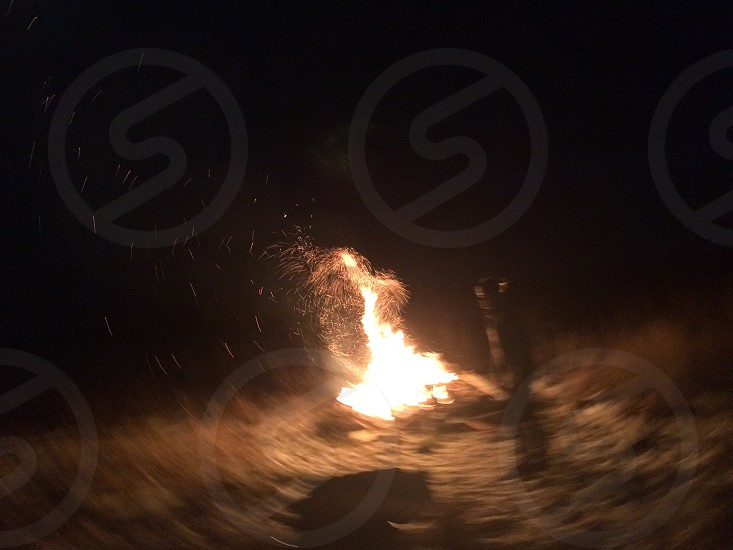 "dramatic mysterius ""daft punk"" campfire moment photo"