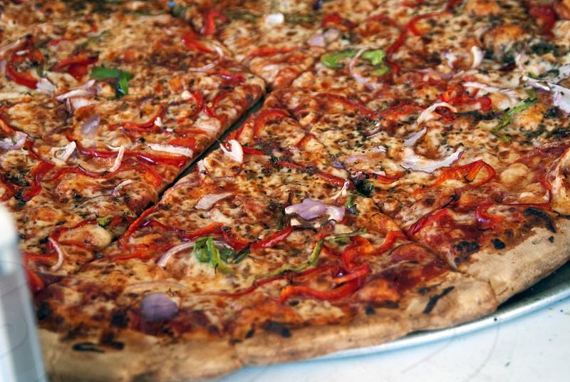 Veggie pizza photo