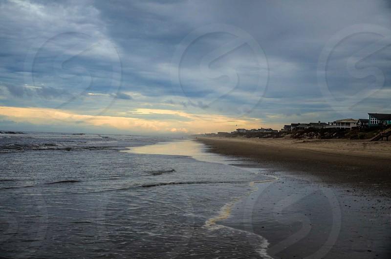 Outer Banks North Carolina Corolla Beach Ocean Fog Surf Cloud Tide Wave photo