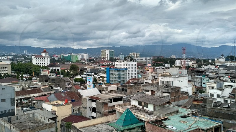 Bandung CityIndonesia .View from the above. photo