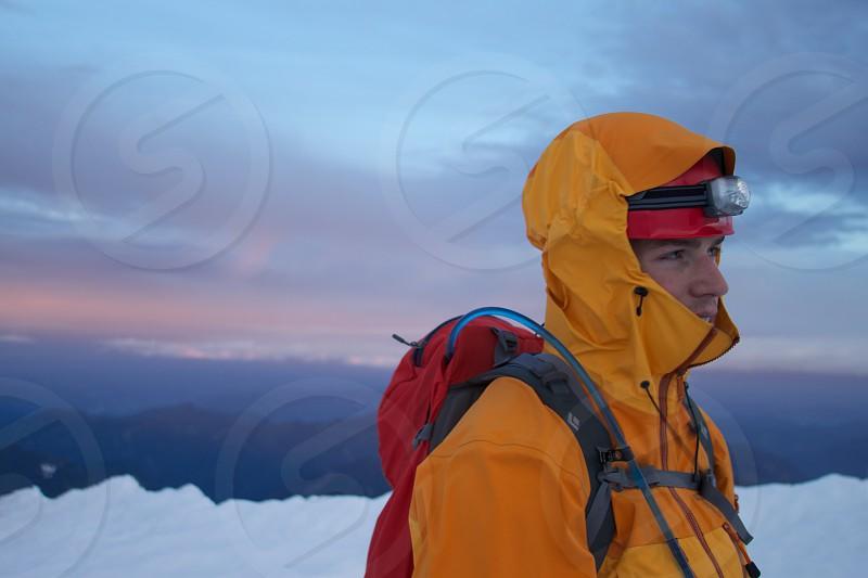 On the summit of Mount Baker photo