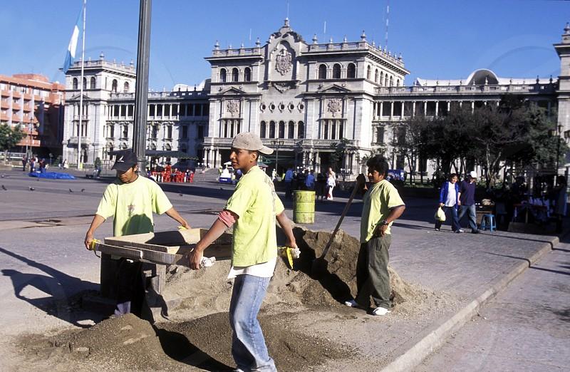 the City Centre of Guatemala City in Guatemala in central America.    photo