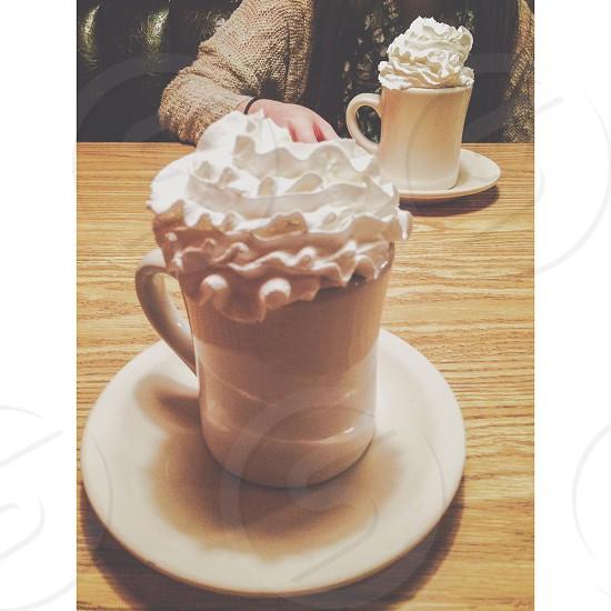 Hot chocolate. photo