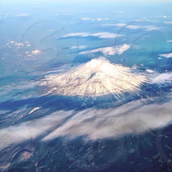 mountain on aerial view photo