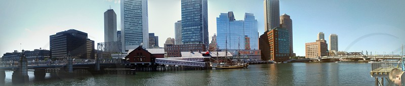went to the children's museum in Boston got this panorama from my phone off the peer! photo