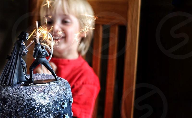 Sparklers  cake  food  birthday photo