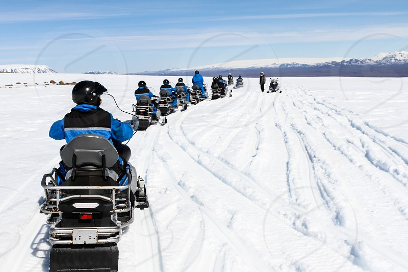 The way we travel : on ice or snow we can travel using snowmobile like I did in Iceland photo
