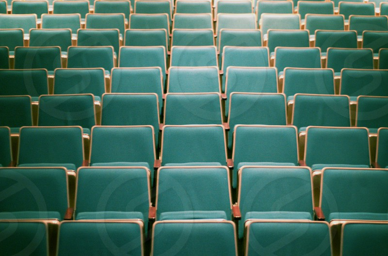 theater seats lines abstract photo