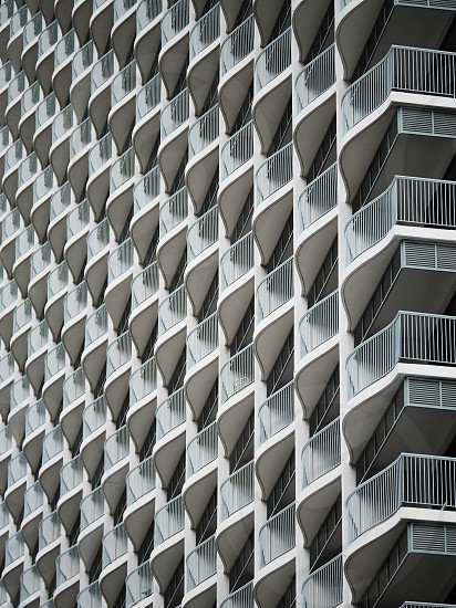 Balconies urban abstract texture  photo