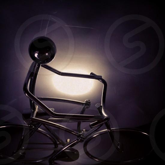 Little man. Light. Bike. Metal photo
