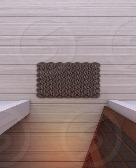 gray floor rug near opened door photo