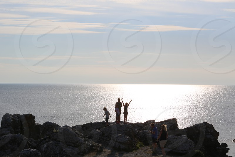 Stopping to check out a sunset view of the Baltic Sea from Fårö Sweden. photo