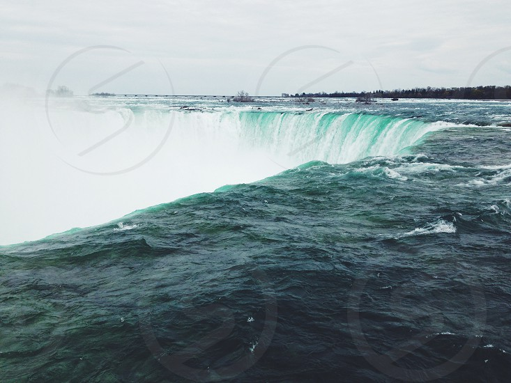 Niagara Falls New York Canada Maid of the Mist Water Niagara Waterfall photo