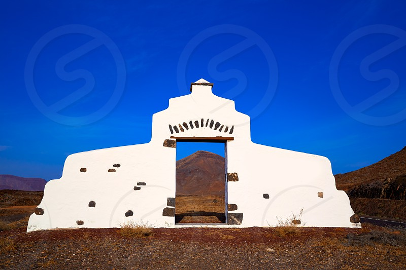 Fuerteventura welcome monument sign at Canary Islands of Spain photo