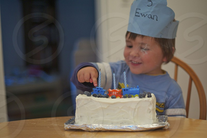 three-year-old birthday photo