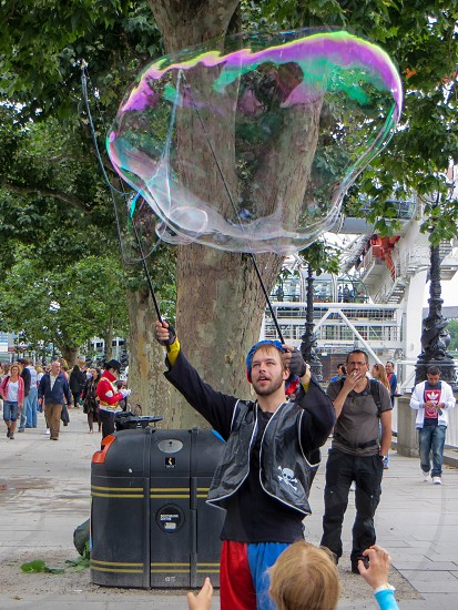 Bubblemaker on the Southbank photo