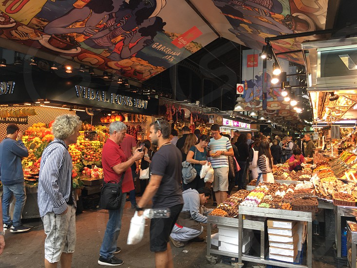 Boqueria in La Ramblas Barcelona.  photo