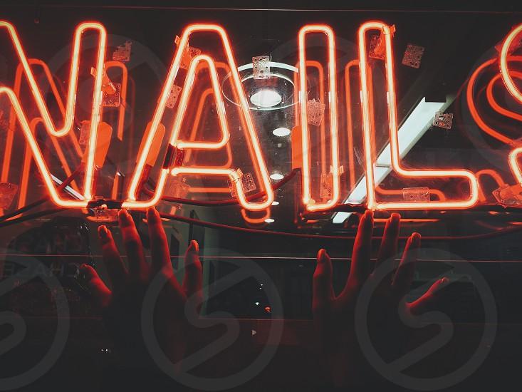nails led lights photo