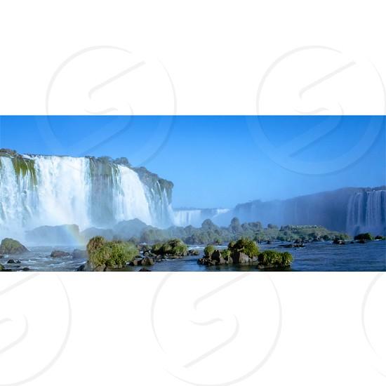#water #flow #wave #rock #mountain #falls #nature #fozdoiguaçu #iguaçu photo