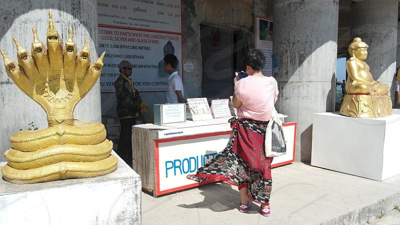 big buddha temple in Thailand photo