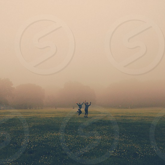 couple in the field photo