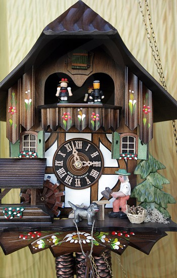 A shop of kuckuck Clock watch in the village of Triberg in the Blackforest in the south of Germany in Europe. photo