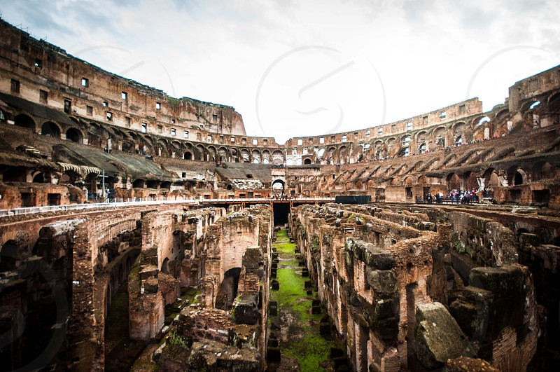 Inside the Colosseum Rome Italy photo
