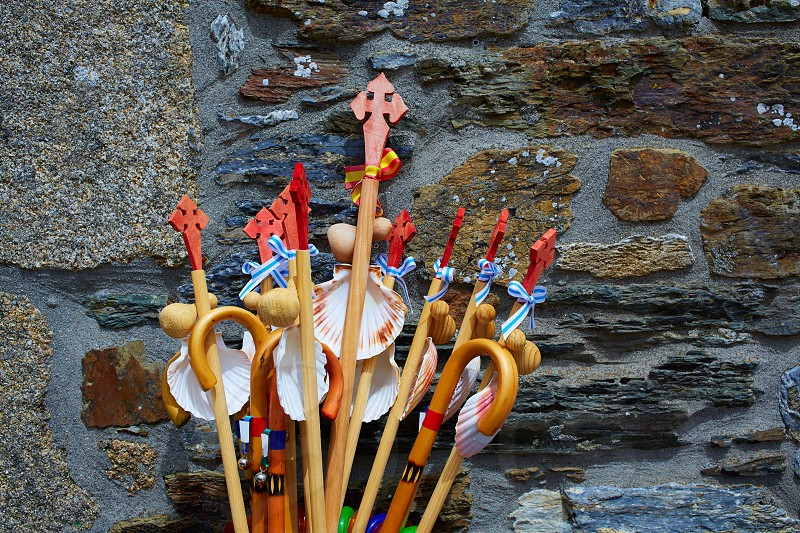 O Cebreiro by the way of Saint James in Galicia shell souvenirs Spain photo