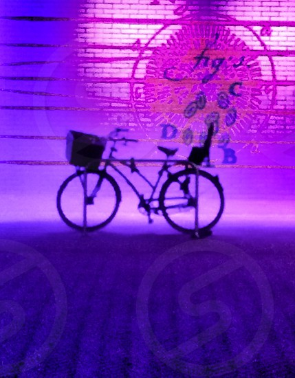 bicycle night lights pink  photo