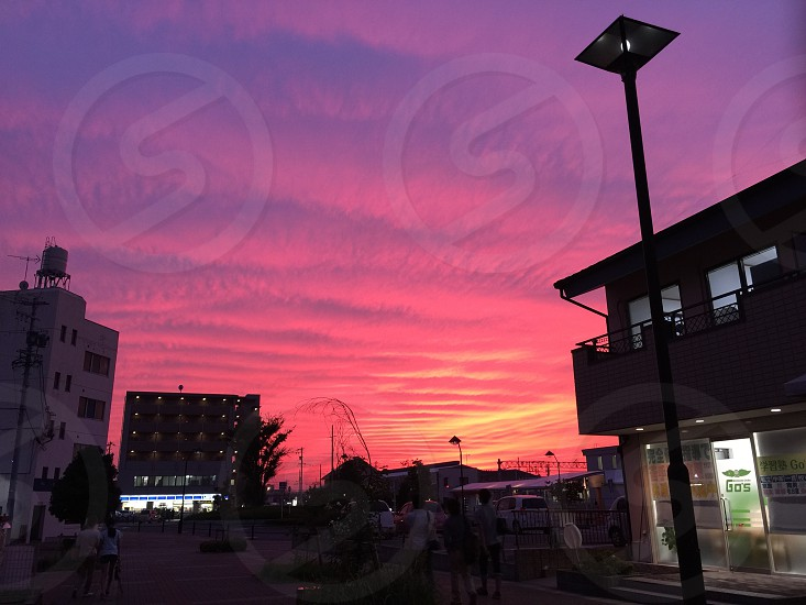 台風19号Vongfang襲来を知らせる夕焼け。 photo