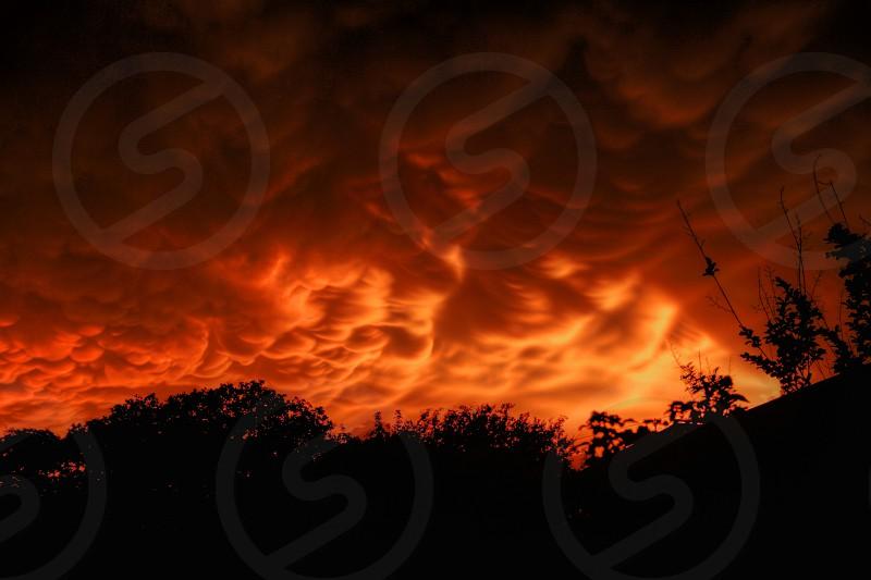 white nimbus clouds during sunset photo