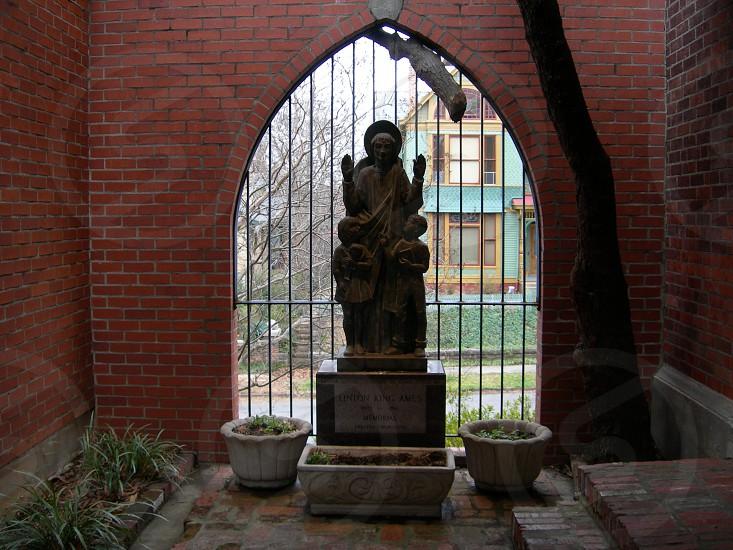 Statue at a church. photo