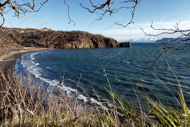 Seascape of Kamchatka Peninsula: beautiful spring view of Avacha Bay (Pacific Ocean). Kamchatka Region Russian Far East Eurasia. photo
